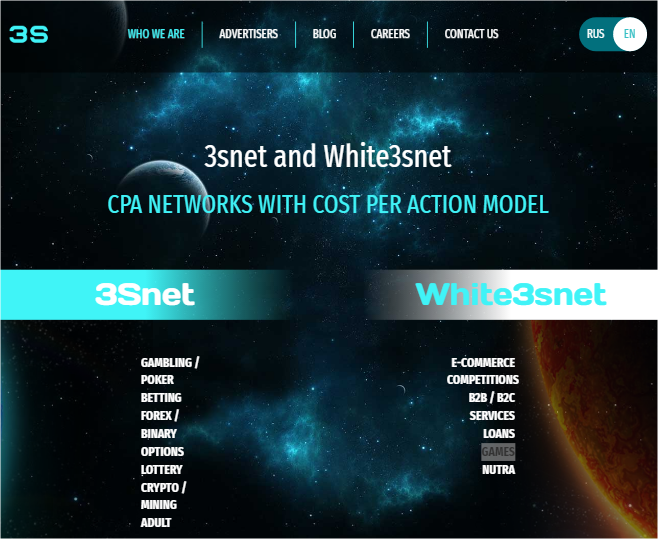 3Snet affiliate network